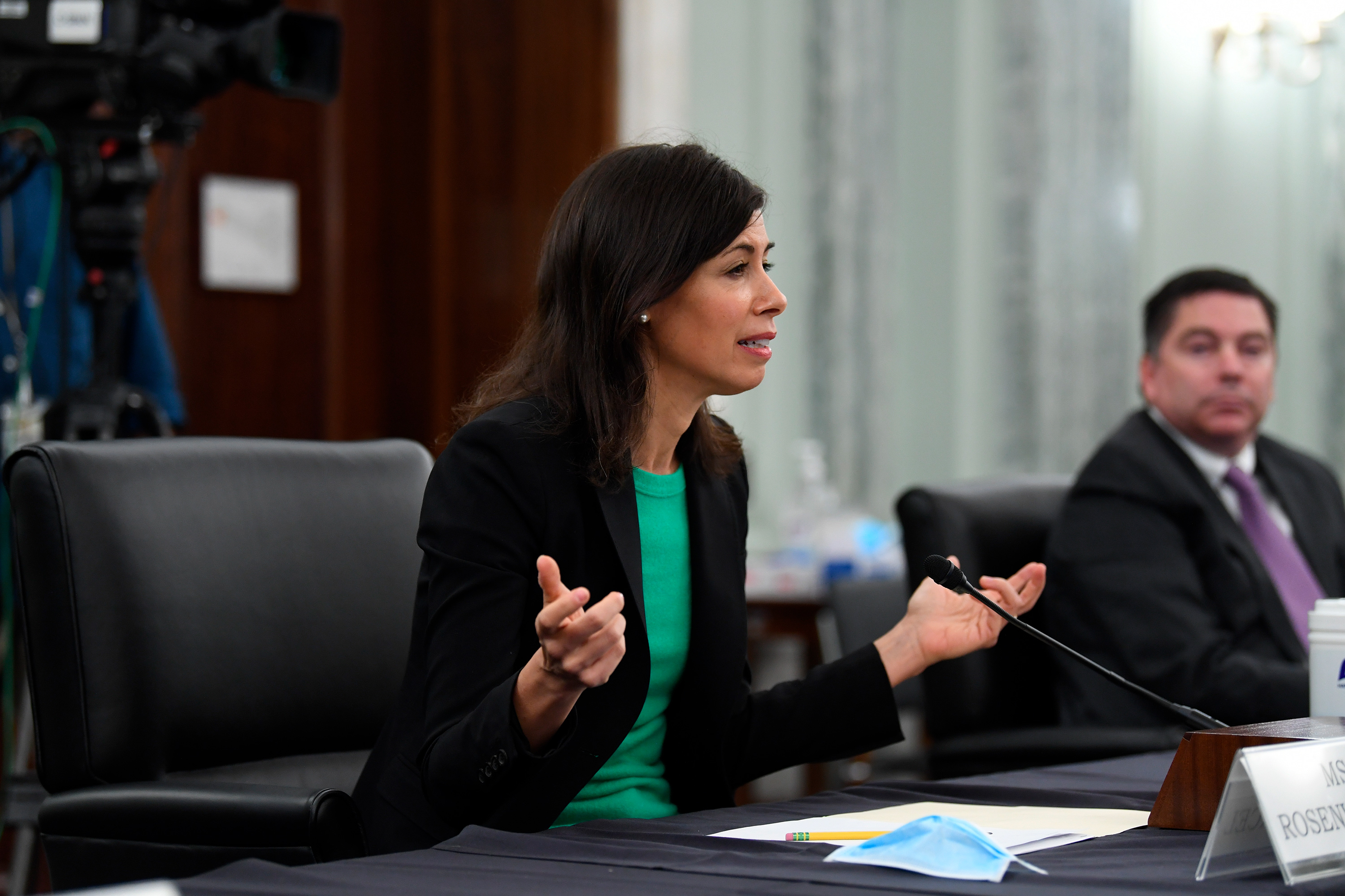 Jessica Rosenworcel testifies before Senate