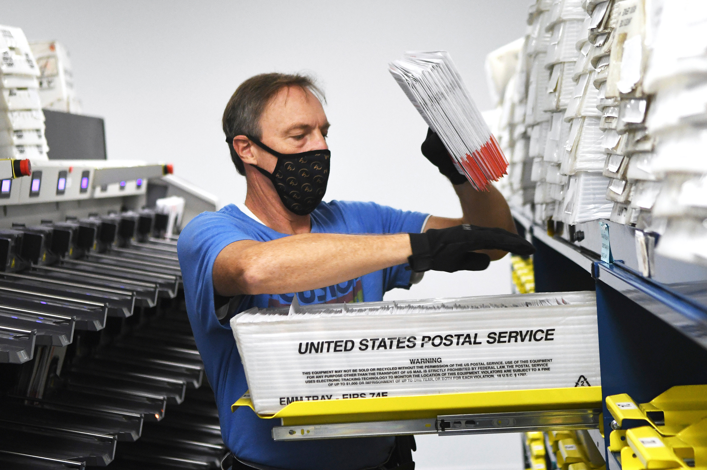mail in ballots sorting in Florida