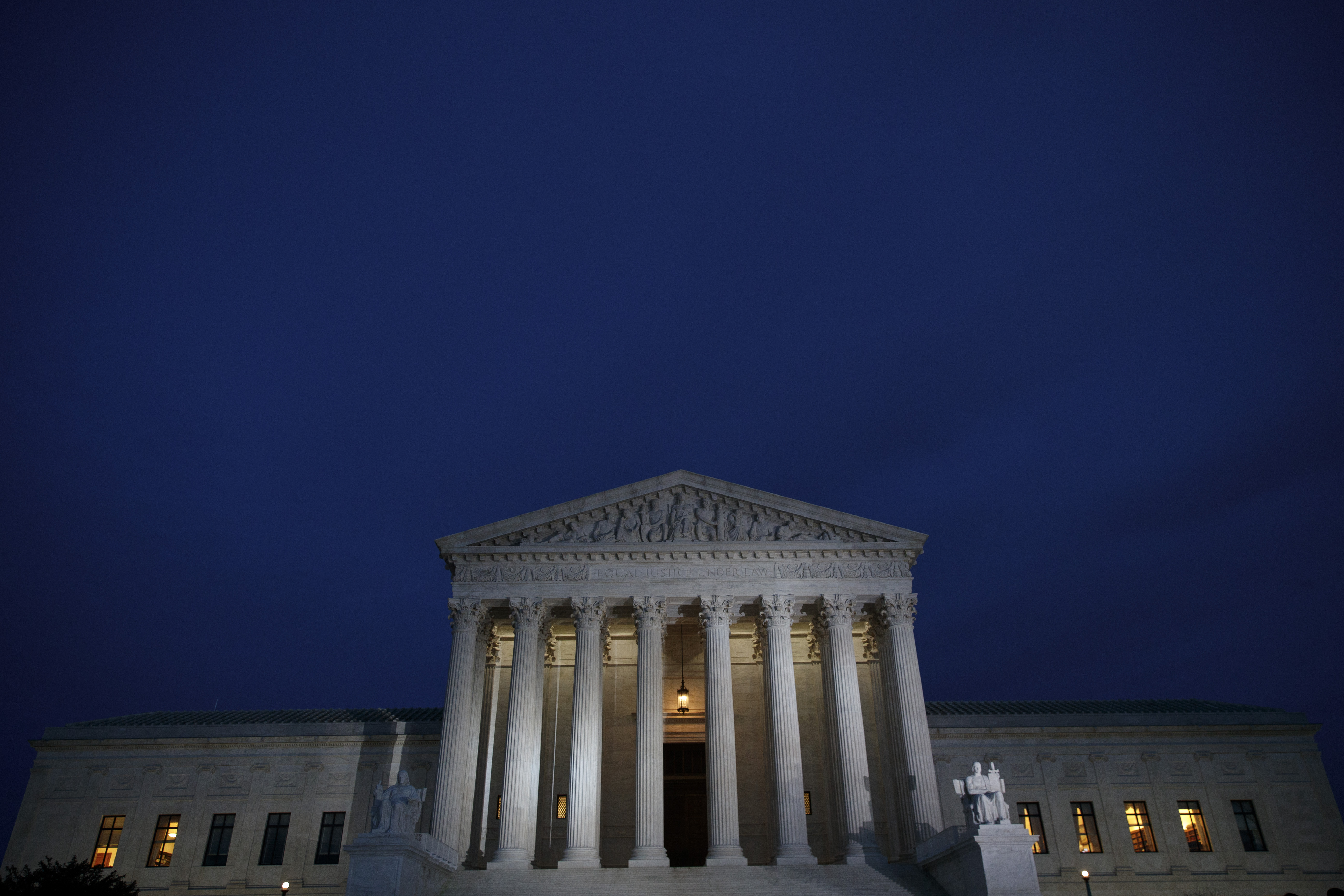 supreme court at night