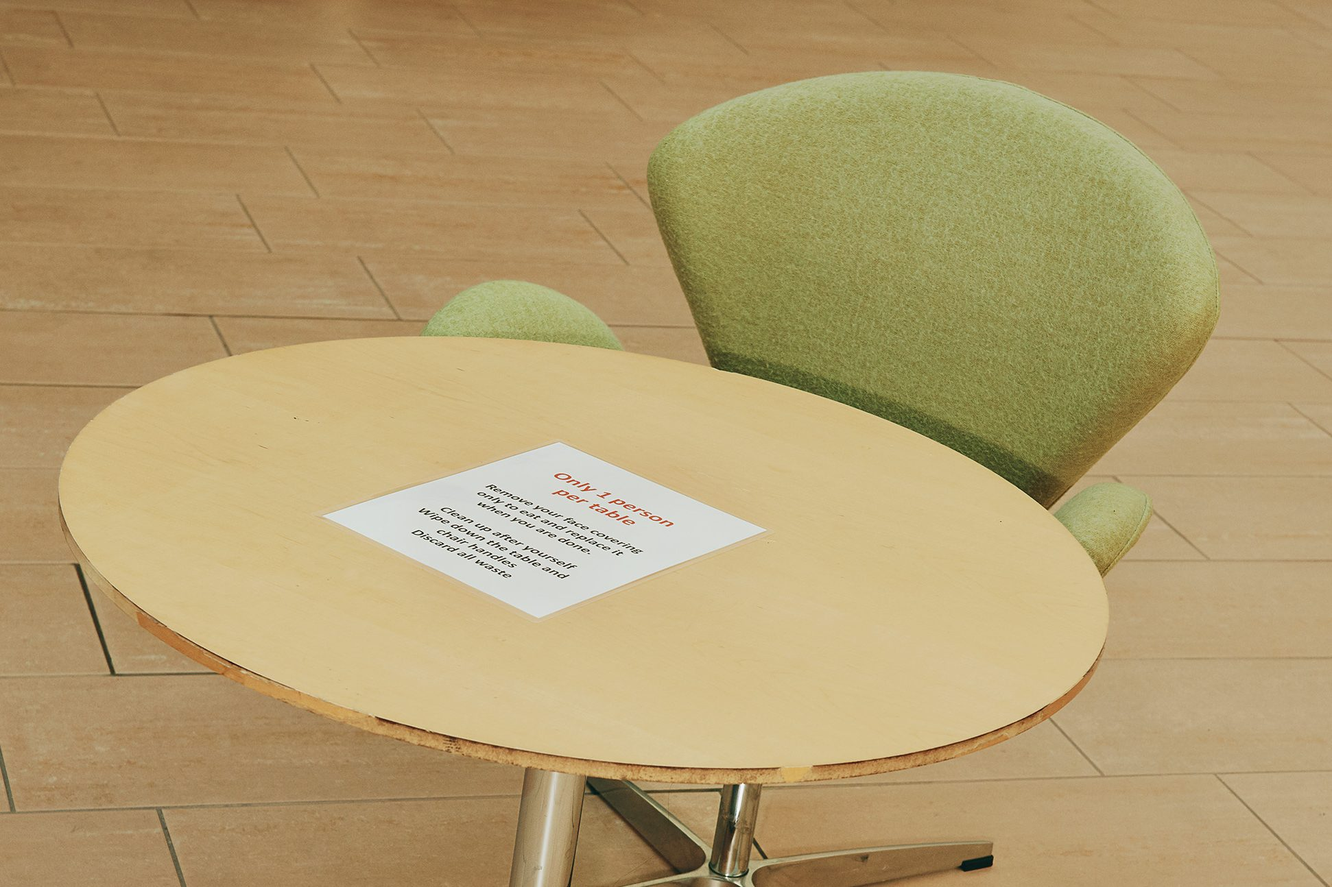 chair in foyer at BCS