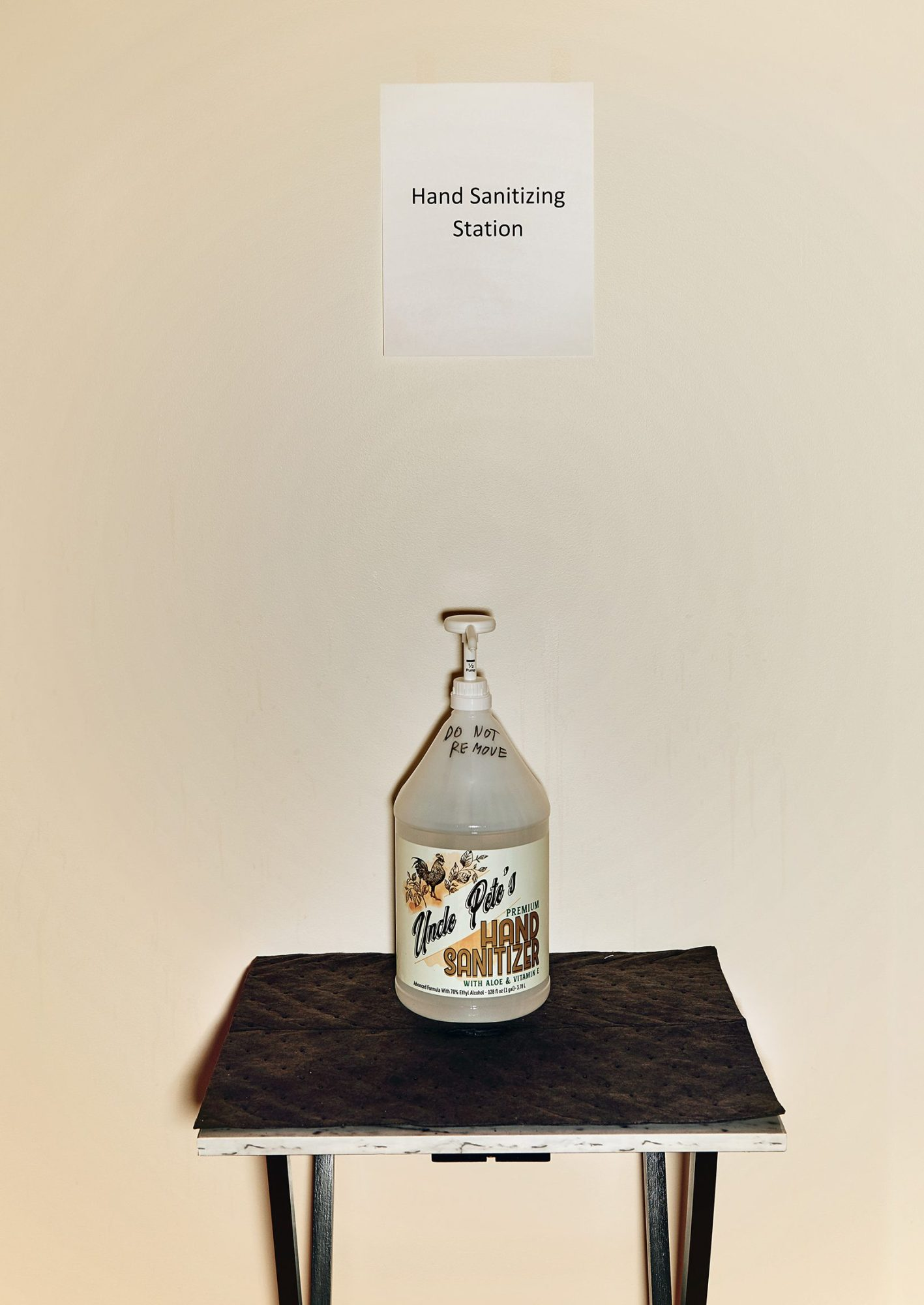 hand sanitizer station