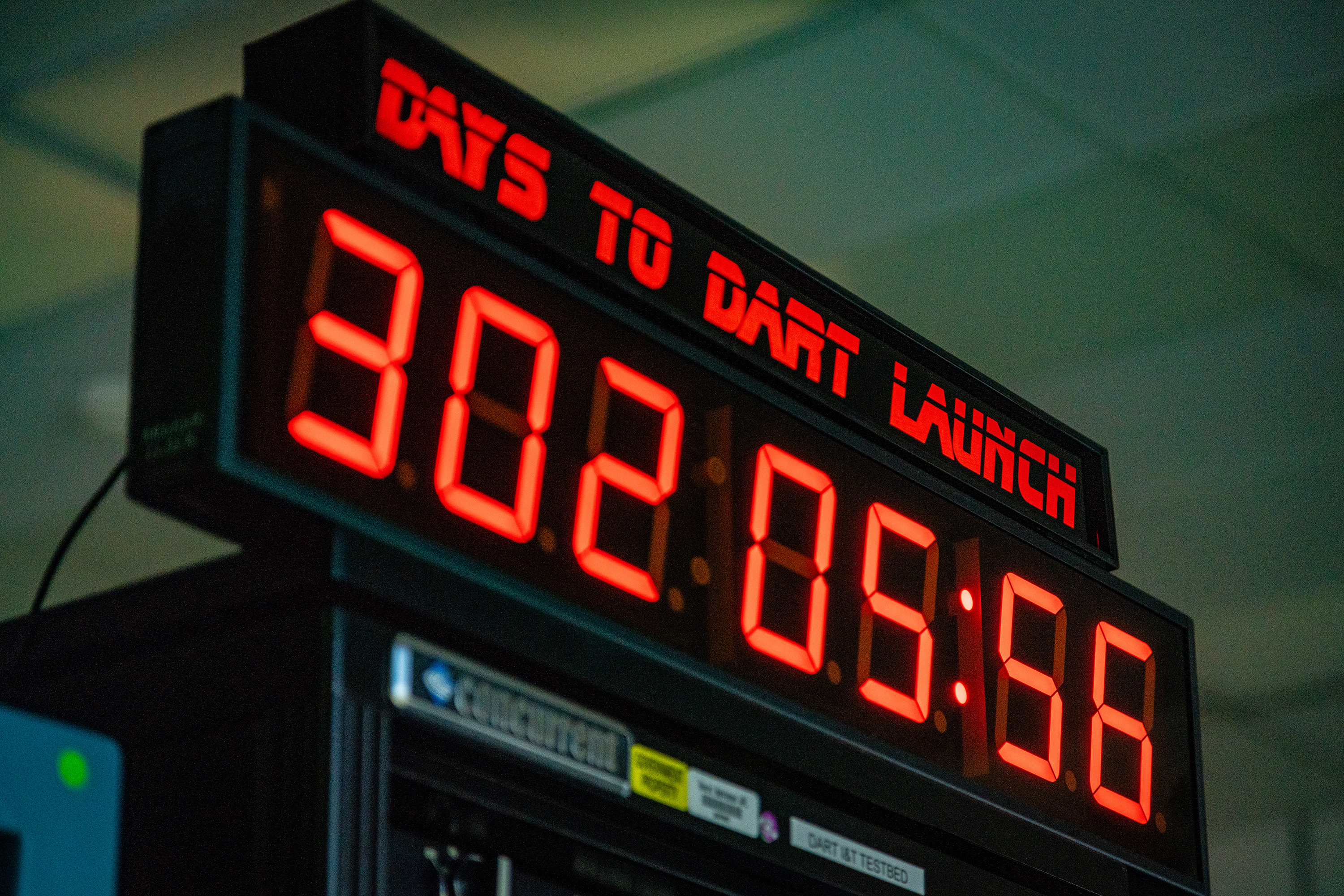 DART Control room countdown clock