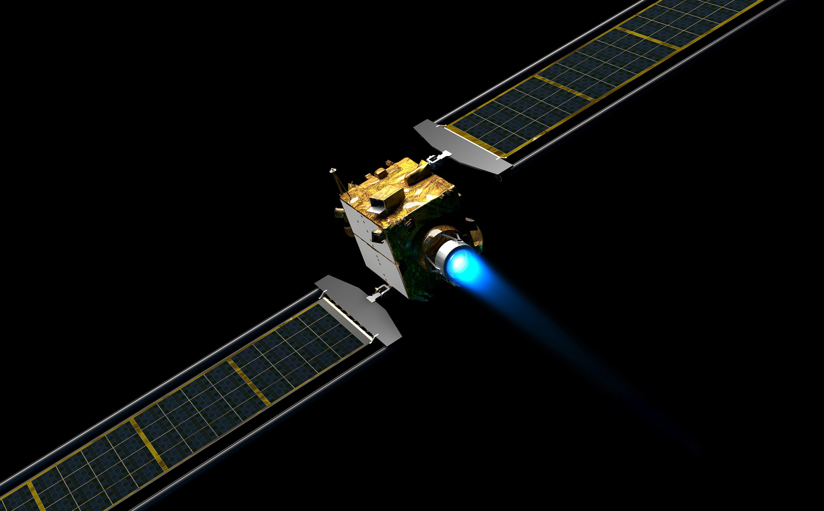 illustration of the DART spacecraft