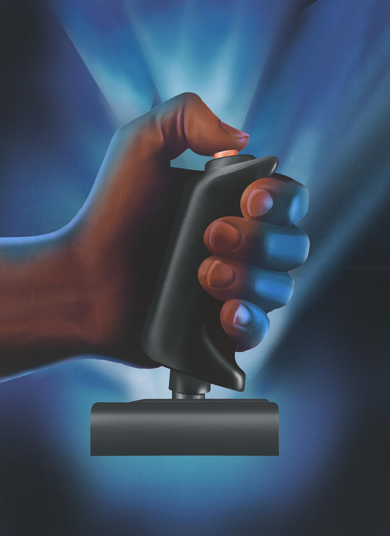 hand on joystick