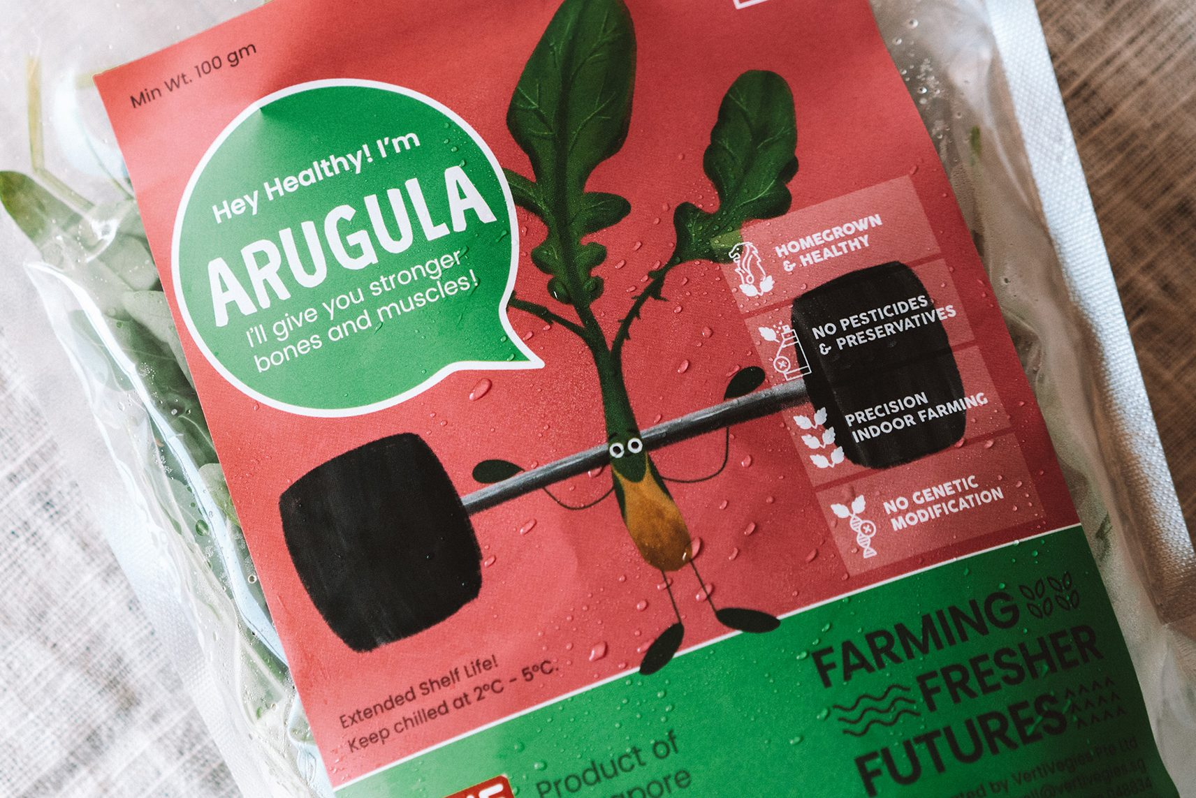 arugula packaging