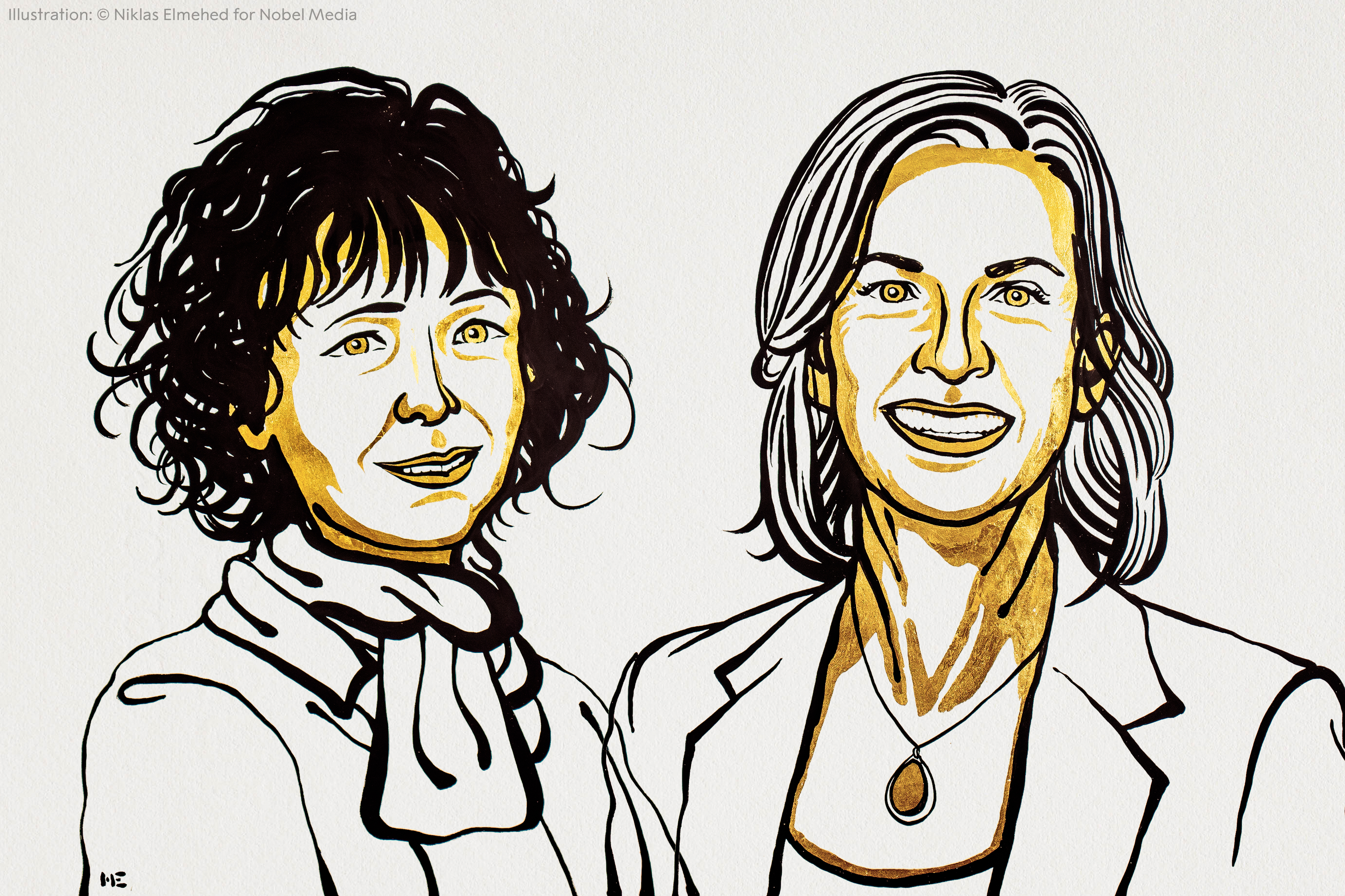 Emmanuelle Charpentier and Jennifer A. Doudna have shared this year's award