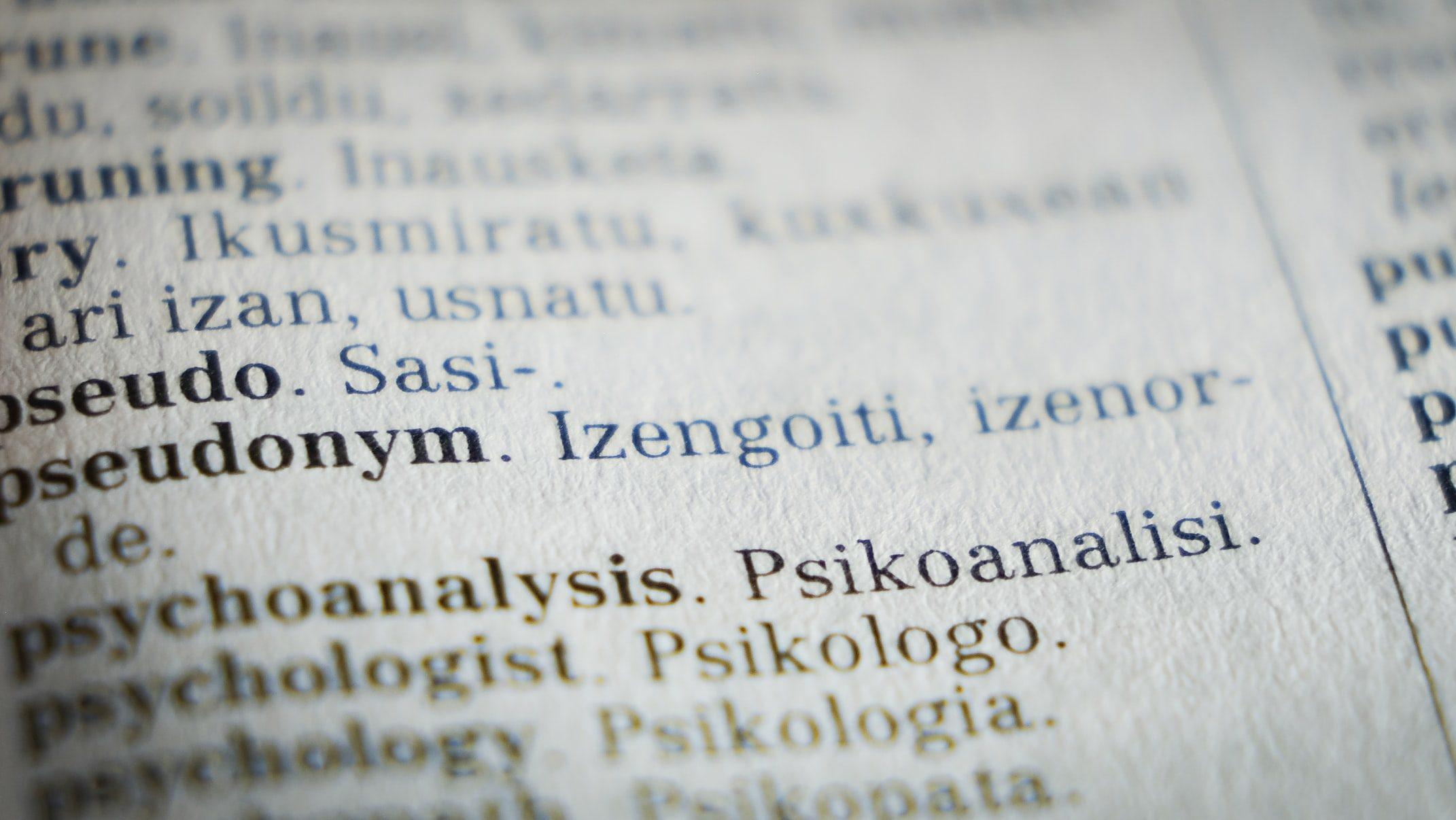 An English-Basque dictionary