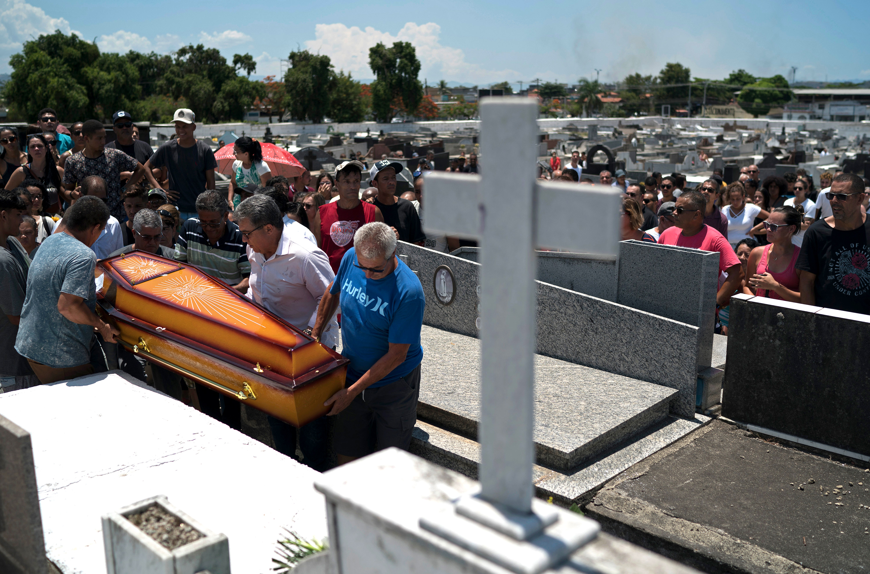 funeral of Matheus Lessa