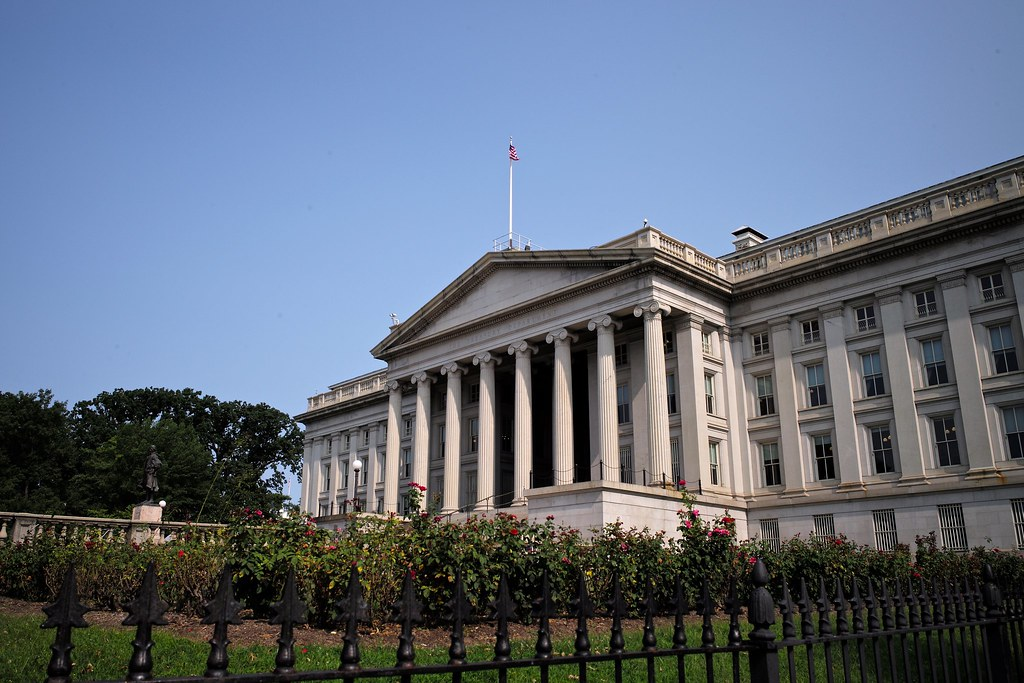 The Treasury Department in Washington, DC.