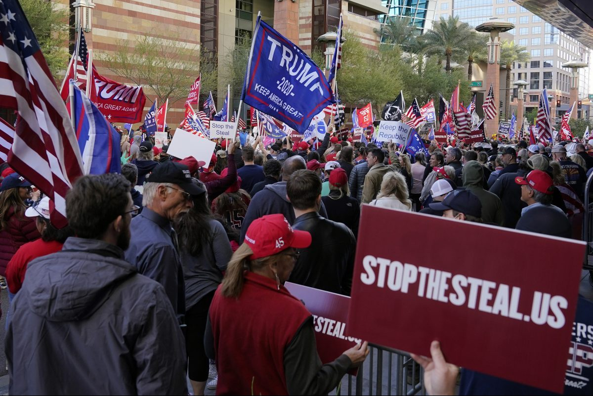 Supporters of President Donald Trump—including this group in Arizona—have continued to protest the vote, even after the certification of election results.