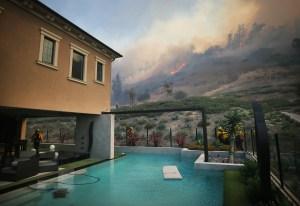 silverado fire behind home