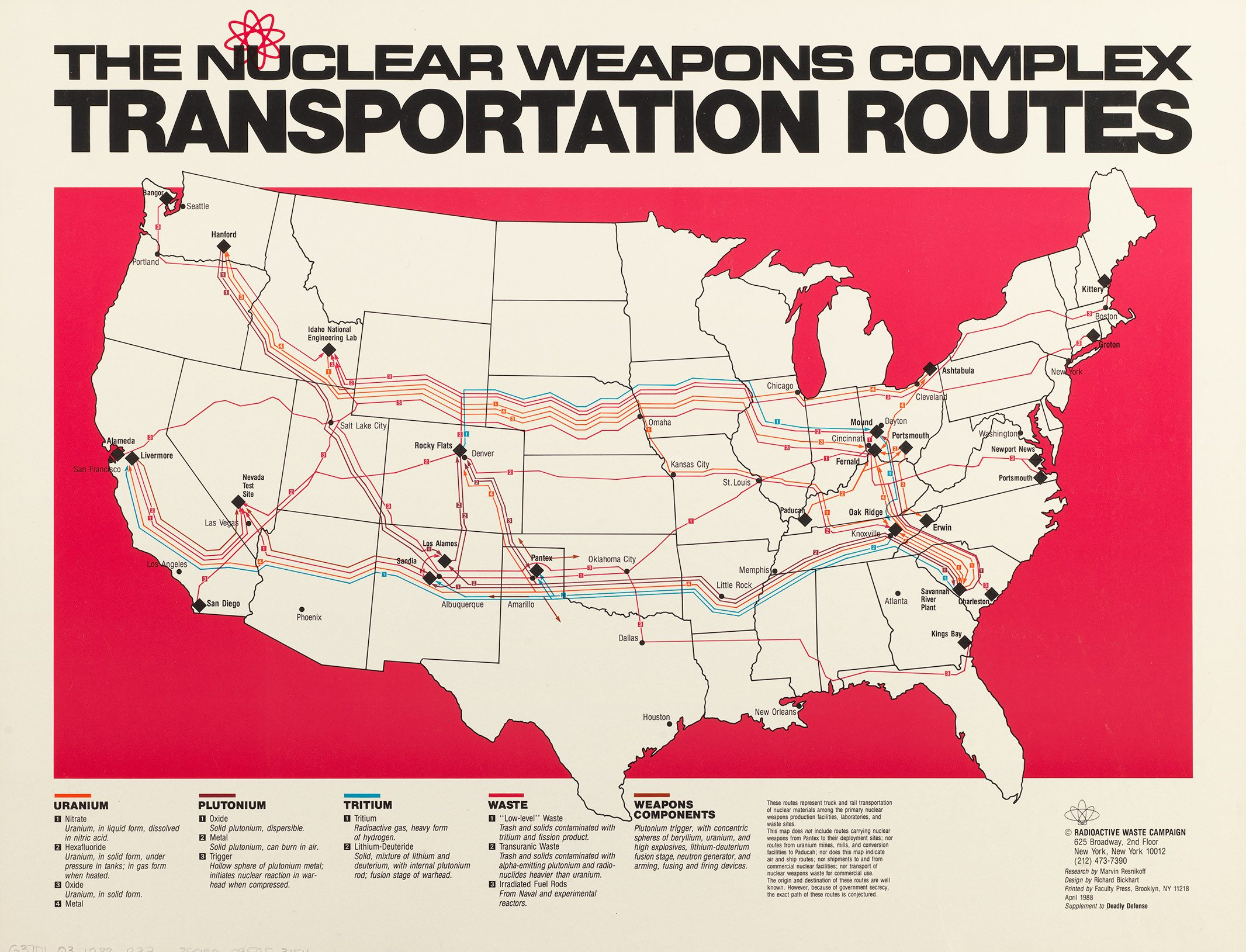 nuclear weapons transportation route map