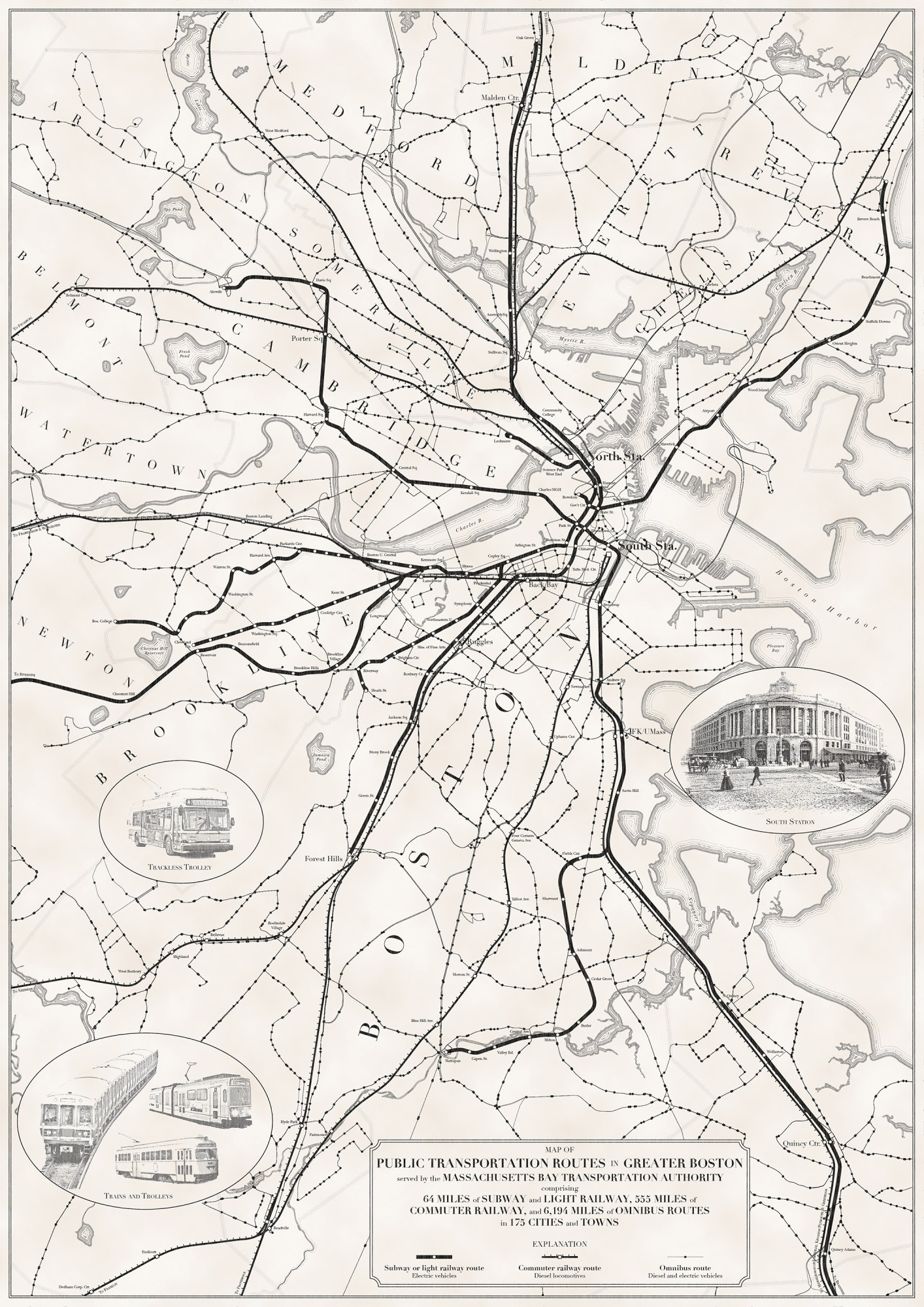 Public Transportation Routes Map