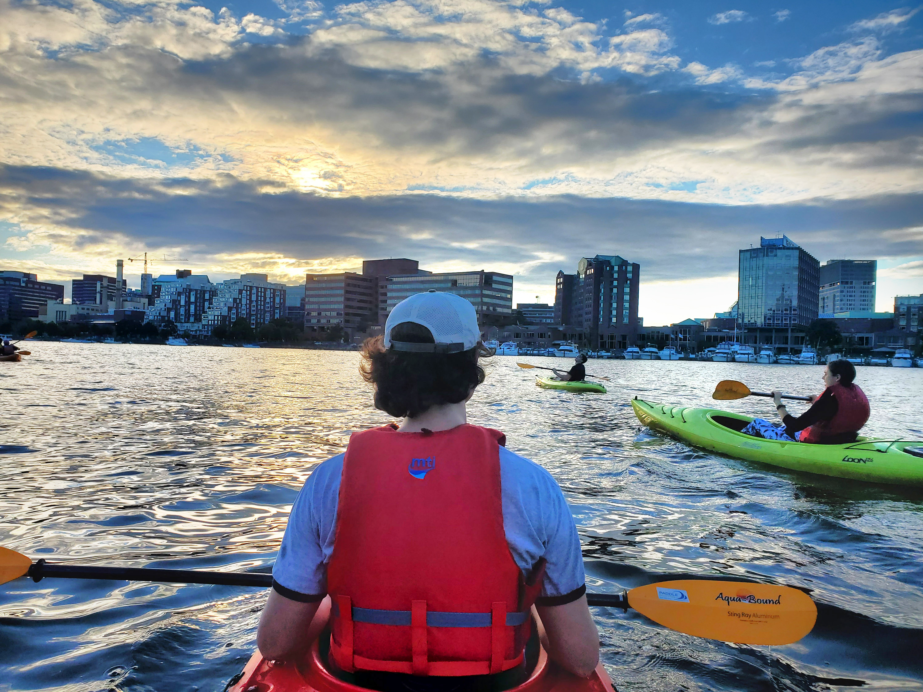 canoing in the Charles