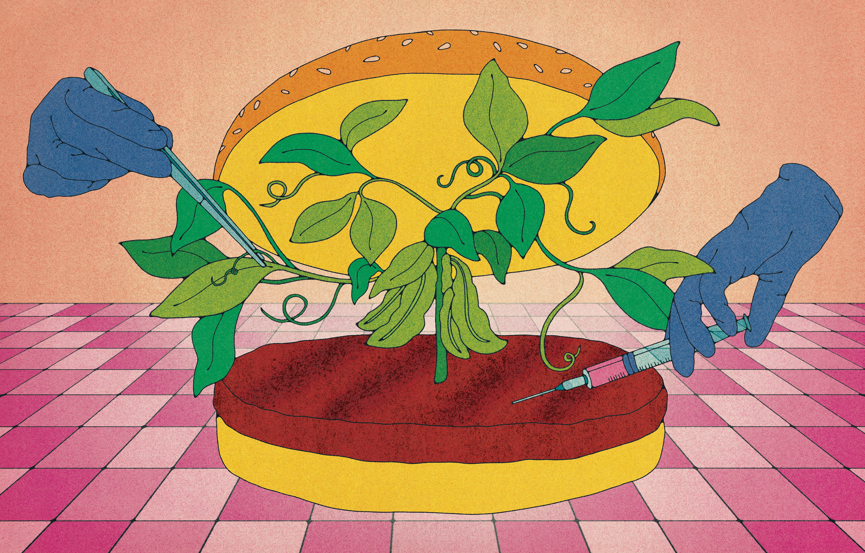 burger engineered with plant