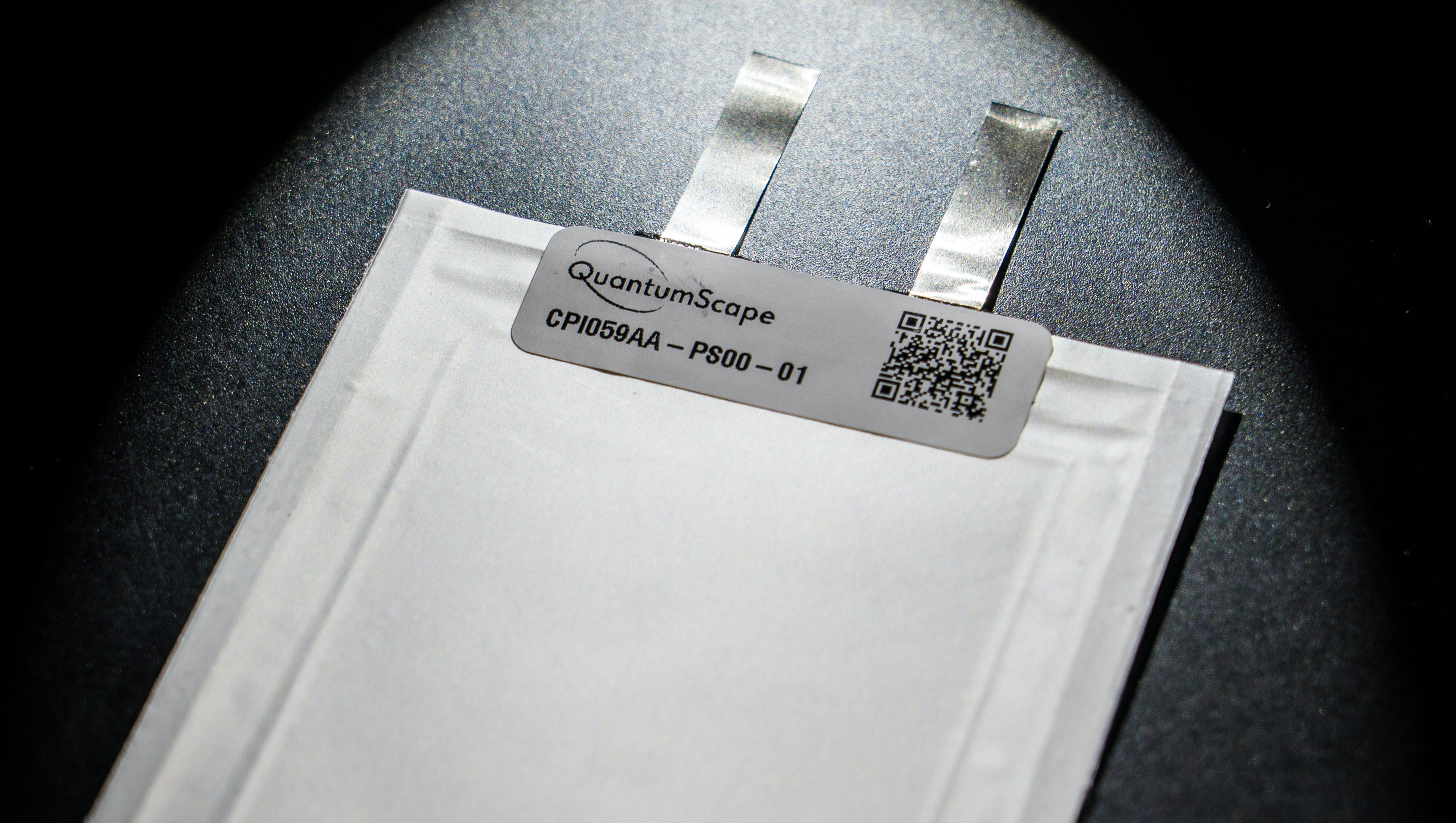 QuantumScape's single-layer, solid-state lithium-metal battery cell.