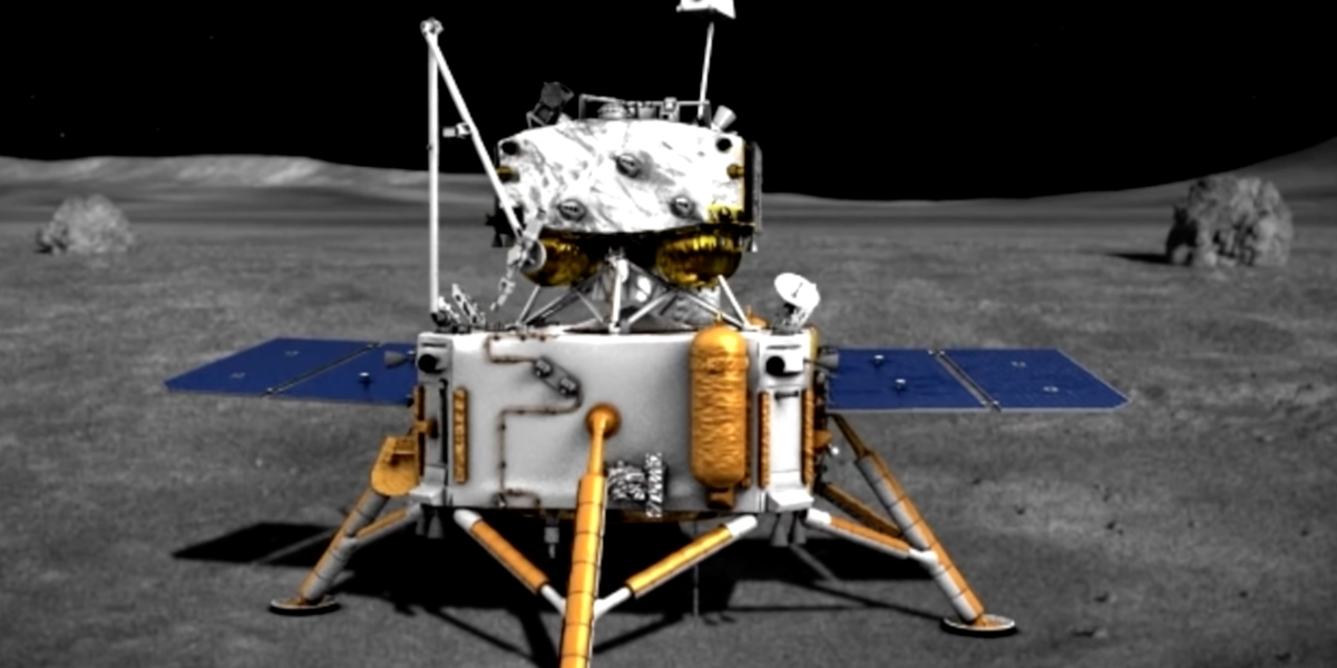 China's Chang'e 5 mission has successfully landed on the moon