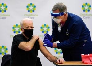 Biden gets second vaccine dose