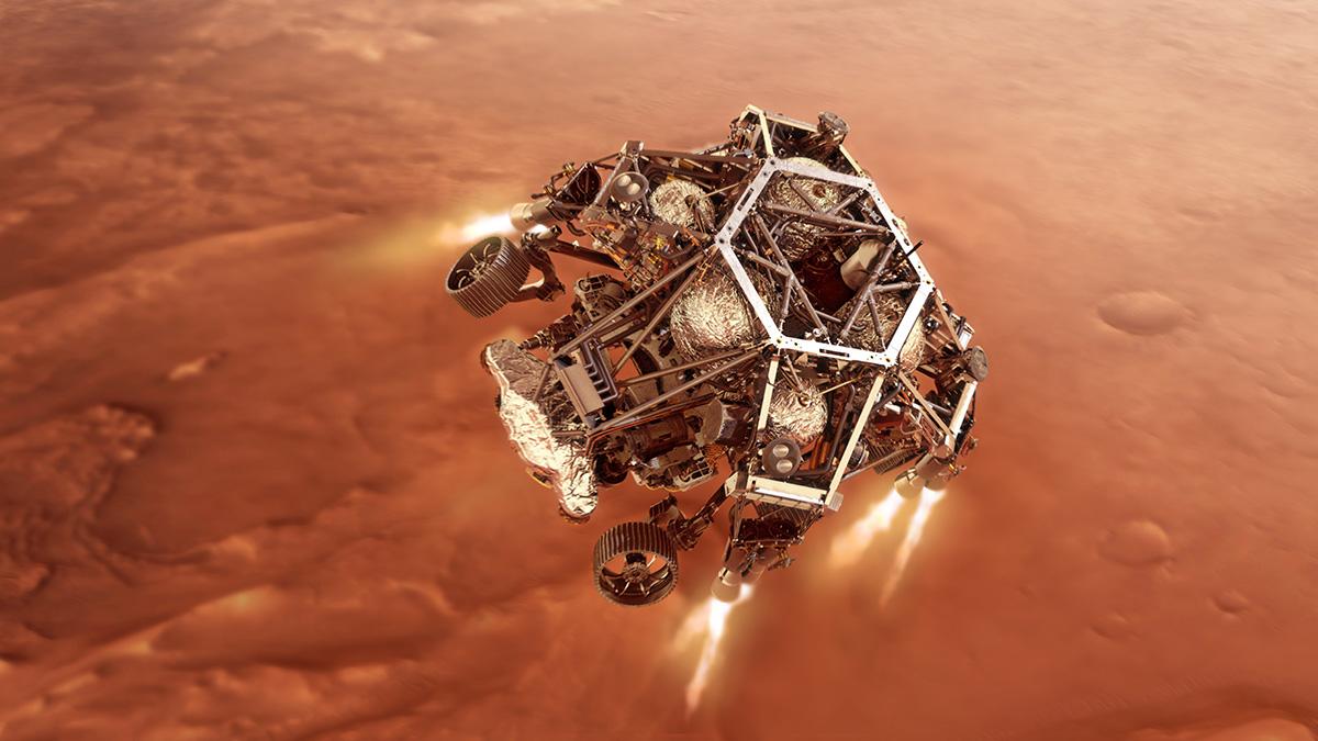 perseverance rover mars landing