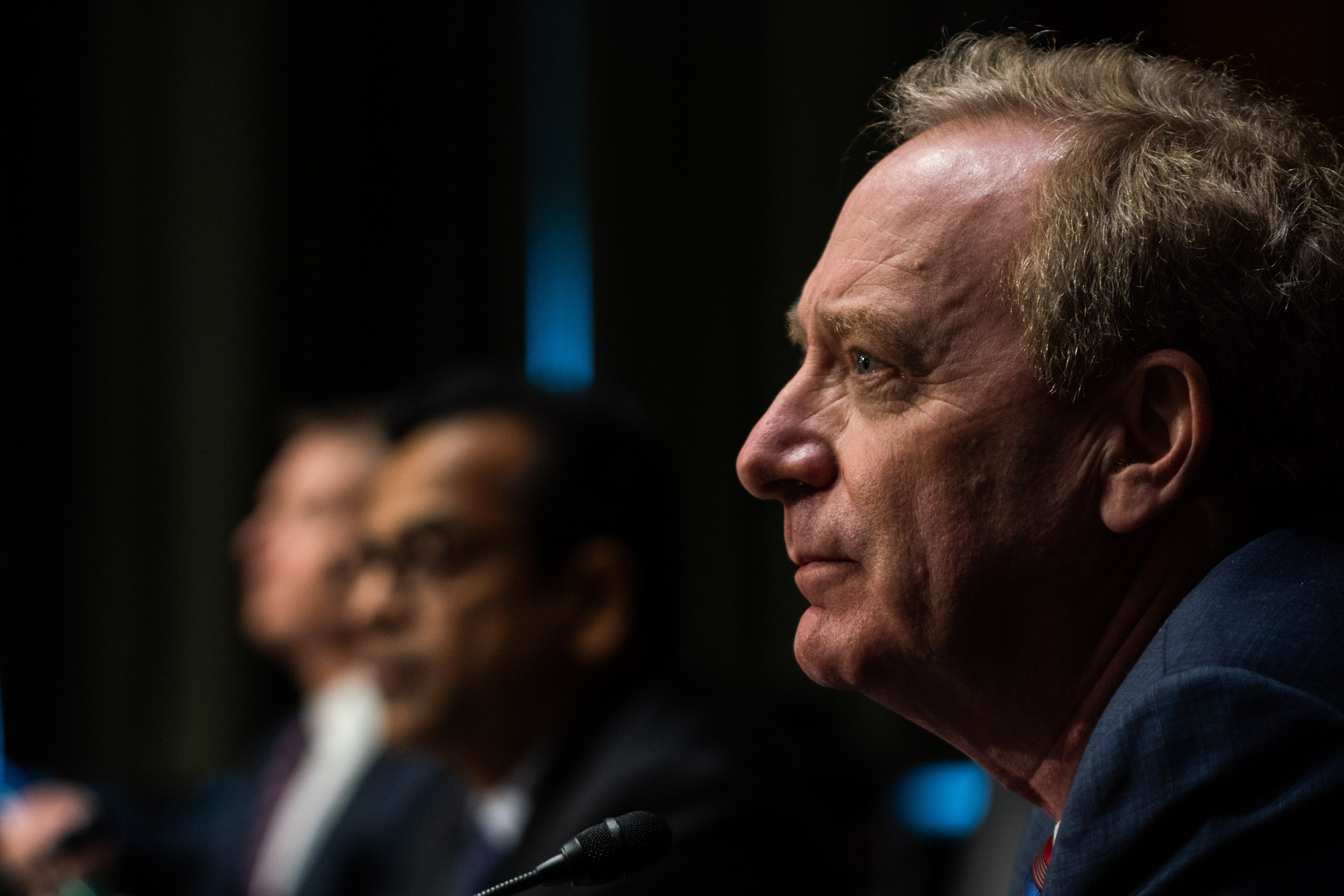 Microsoft president Brad Smith testifies to Congress