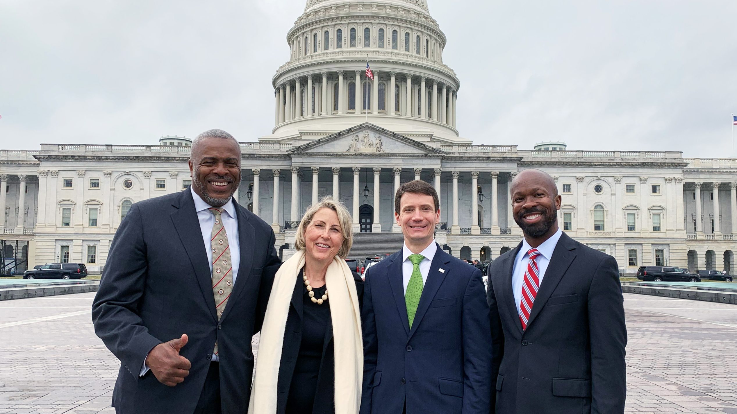 Robert L. Hillman Jr. '84, Athena N. Edmonds '83, John Gavenonis '98, and R. Erich Caulfield, SM '01, PhD '06, visited Capitol Hill in early 2020 to advocate for investing in science.