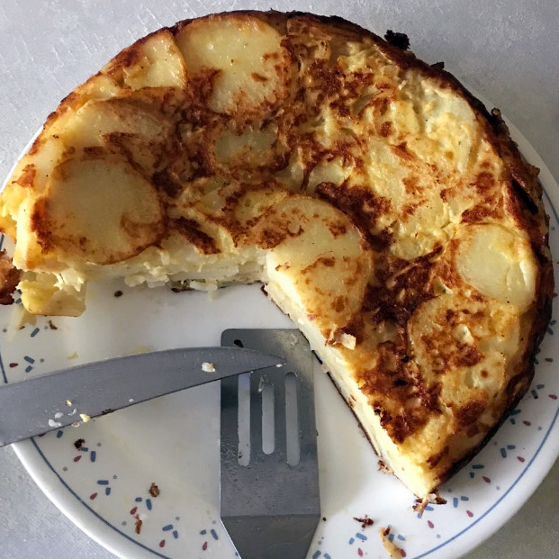 a student's tortilla española