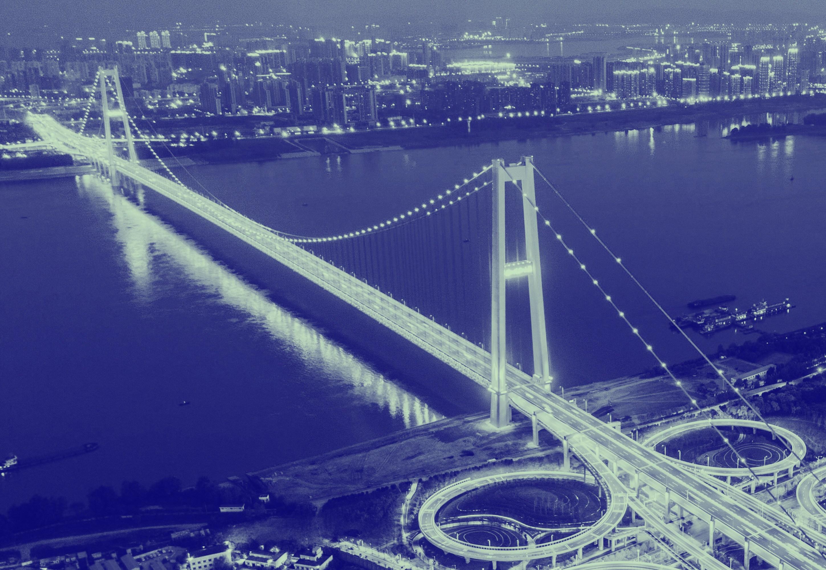 Puente del río Yangtze de angsigang