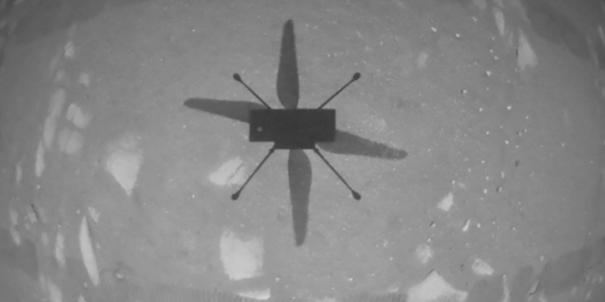 NASA has just flown a helicopter on Mars for the first time