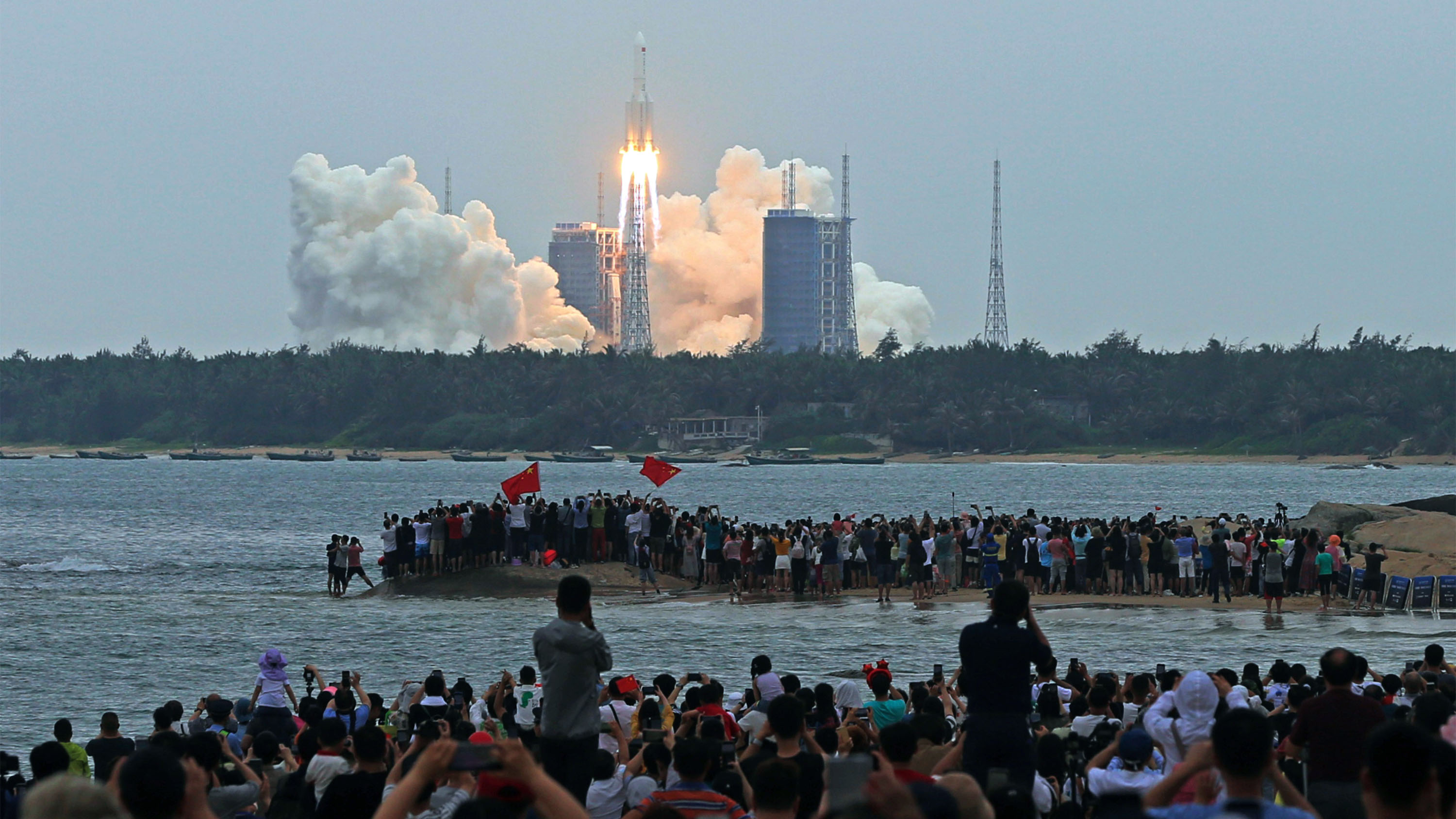 Long March-5B rocket launches