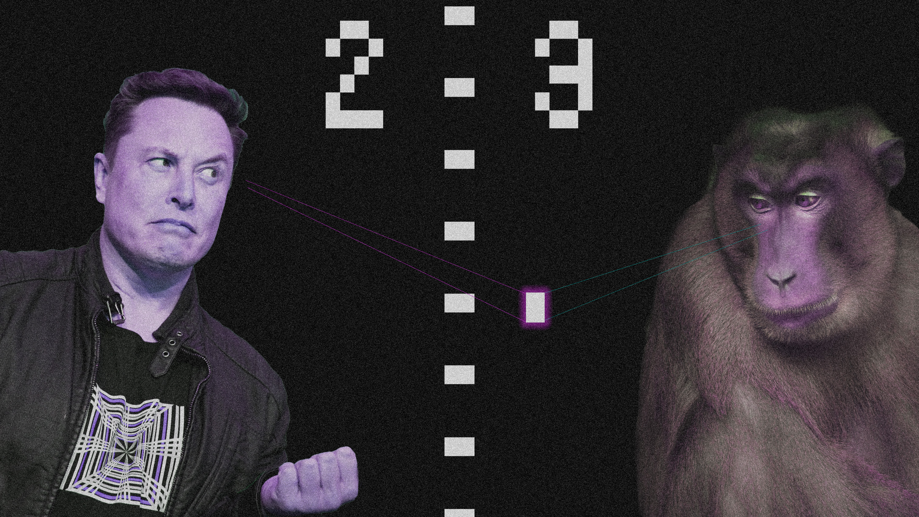 Elon plays pong vs monkey