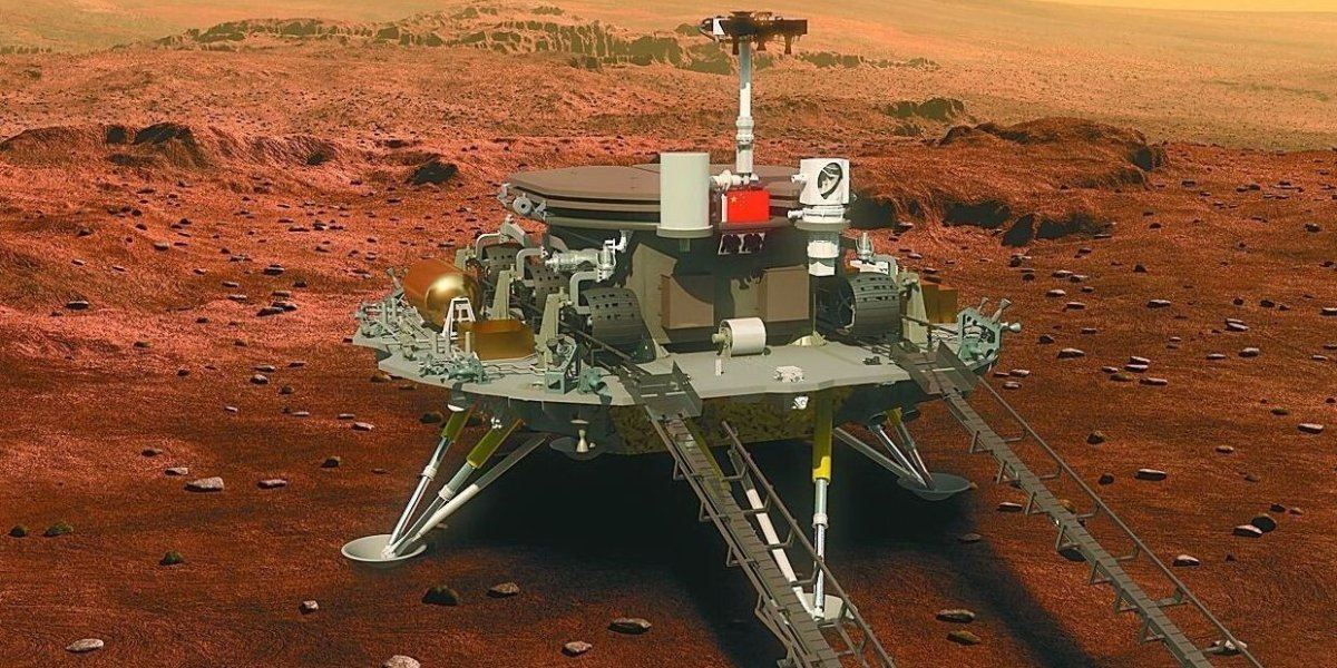 China landed its Zhu Rong rover on Mars