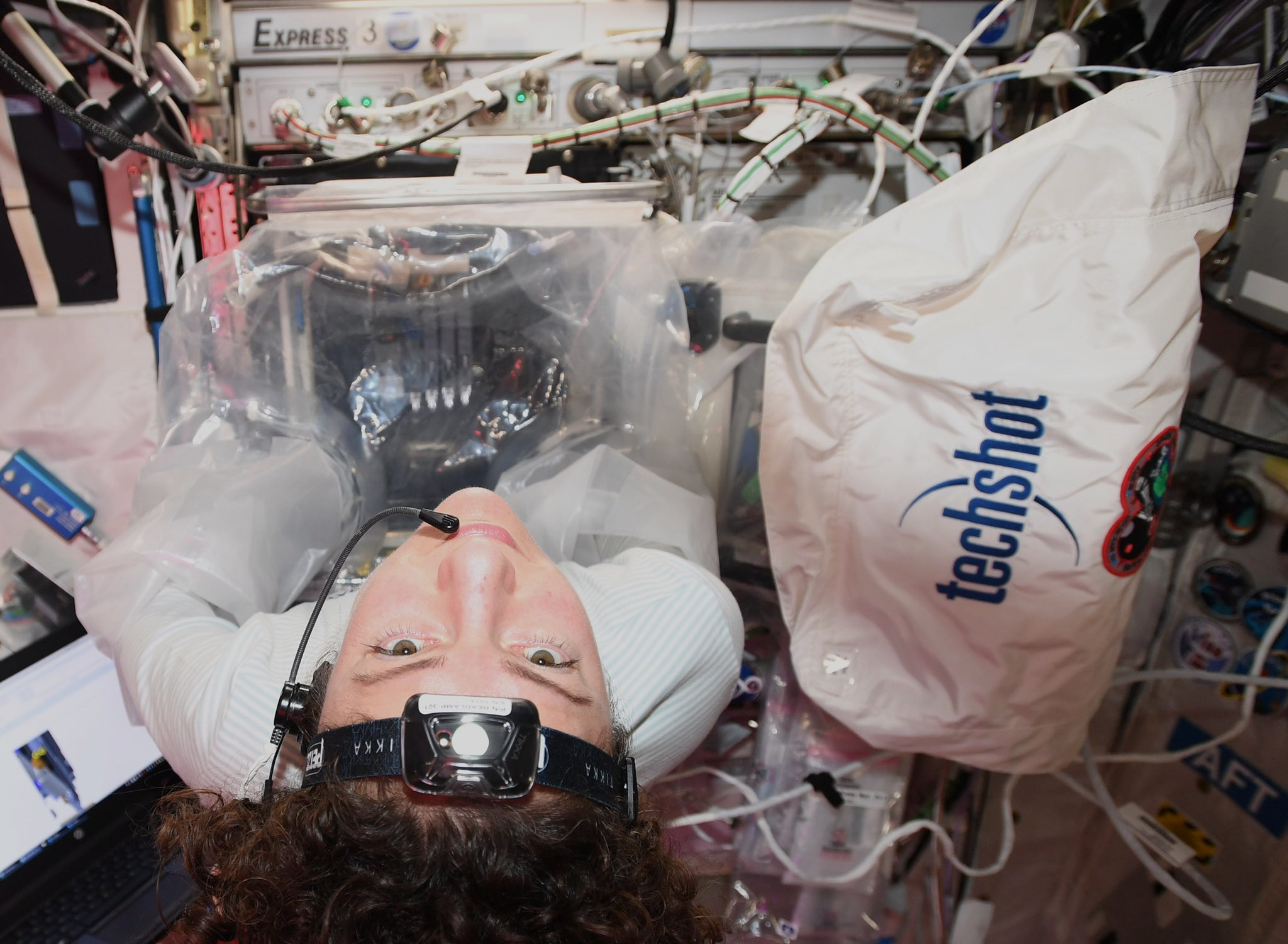BFF in use on the ISS by Jessica Meir