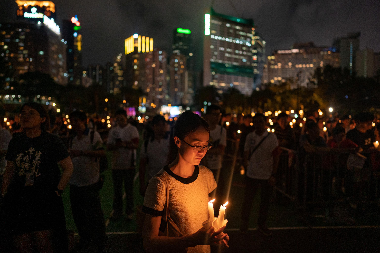 vigil in Hong Kong