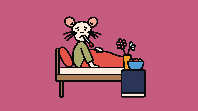 sick mouse