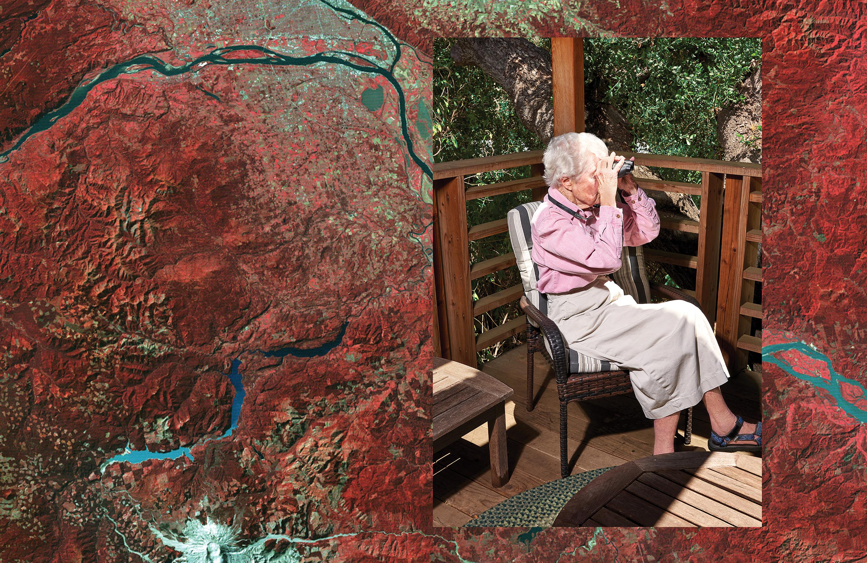 Virginia Norwood with Landsat Image