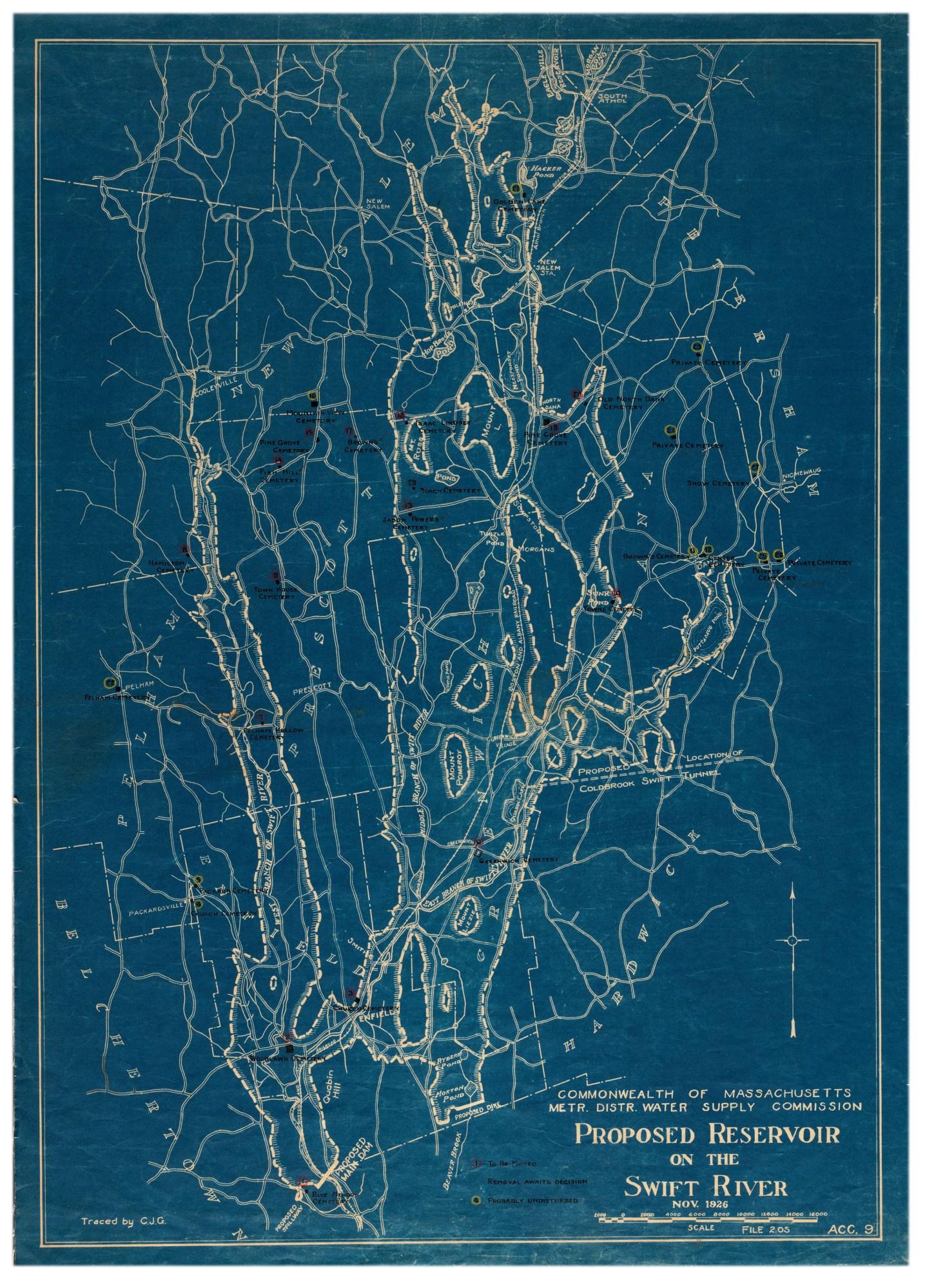 Swift River map