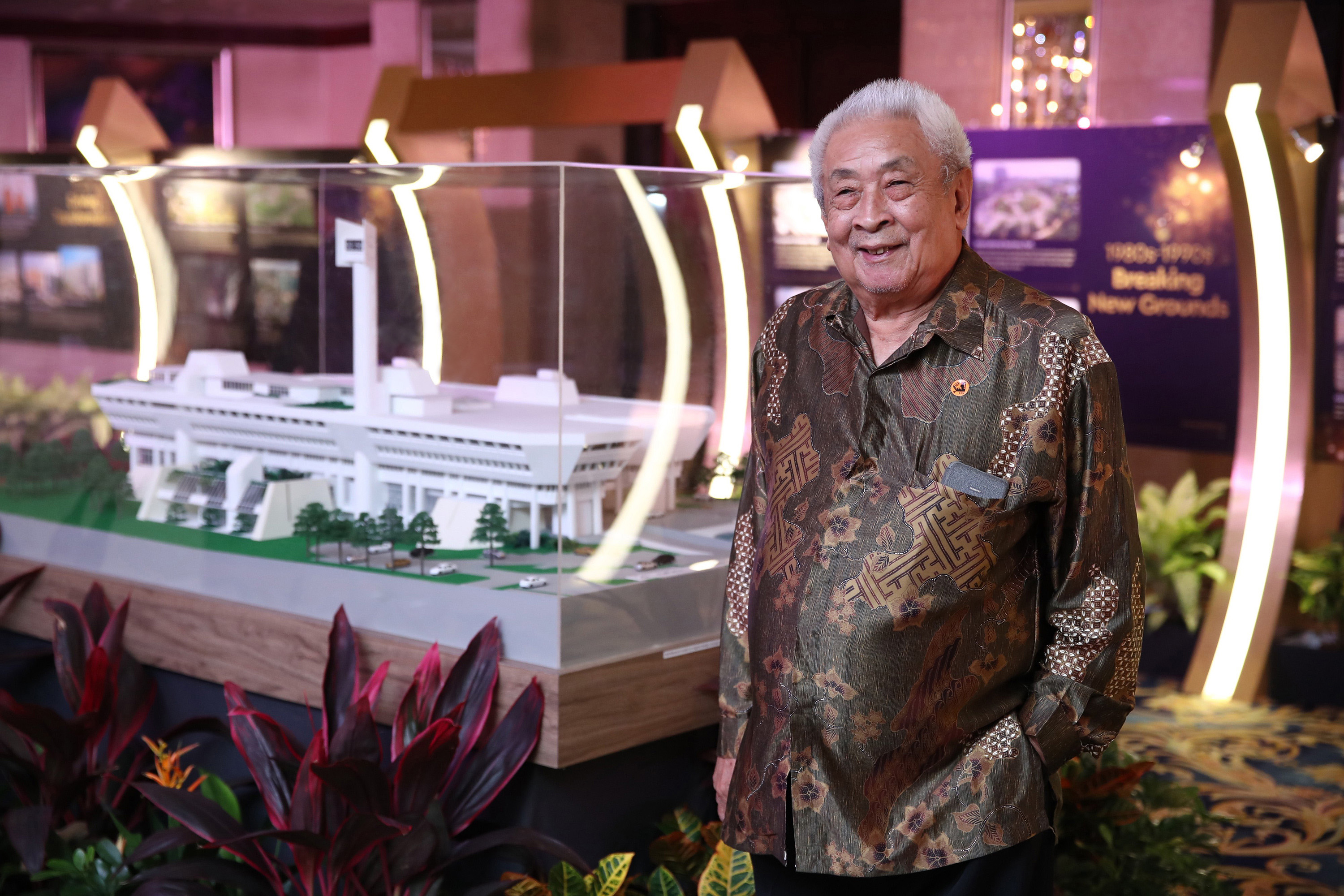 Lim with Town Hall model