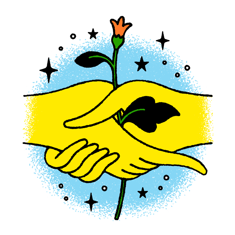 Conceptual illustration humanitarians