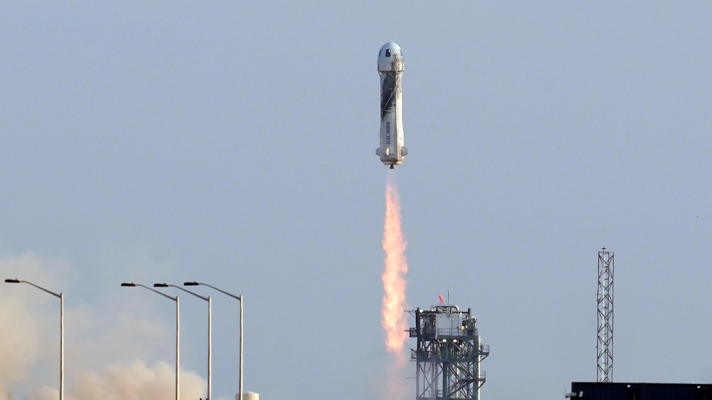 Blue Origin's New Shepard rocket launch