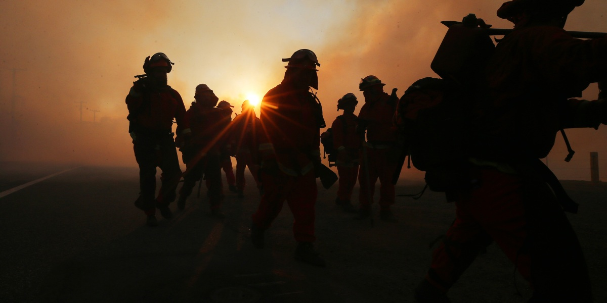 The pandemic reduced emissions from the West Coast.  The fires had already been reversed.