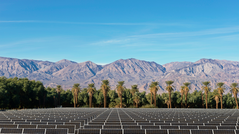 USA, California, Solar Farm at Death Valley