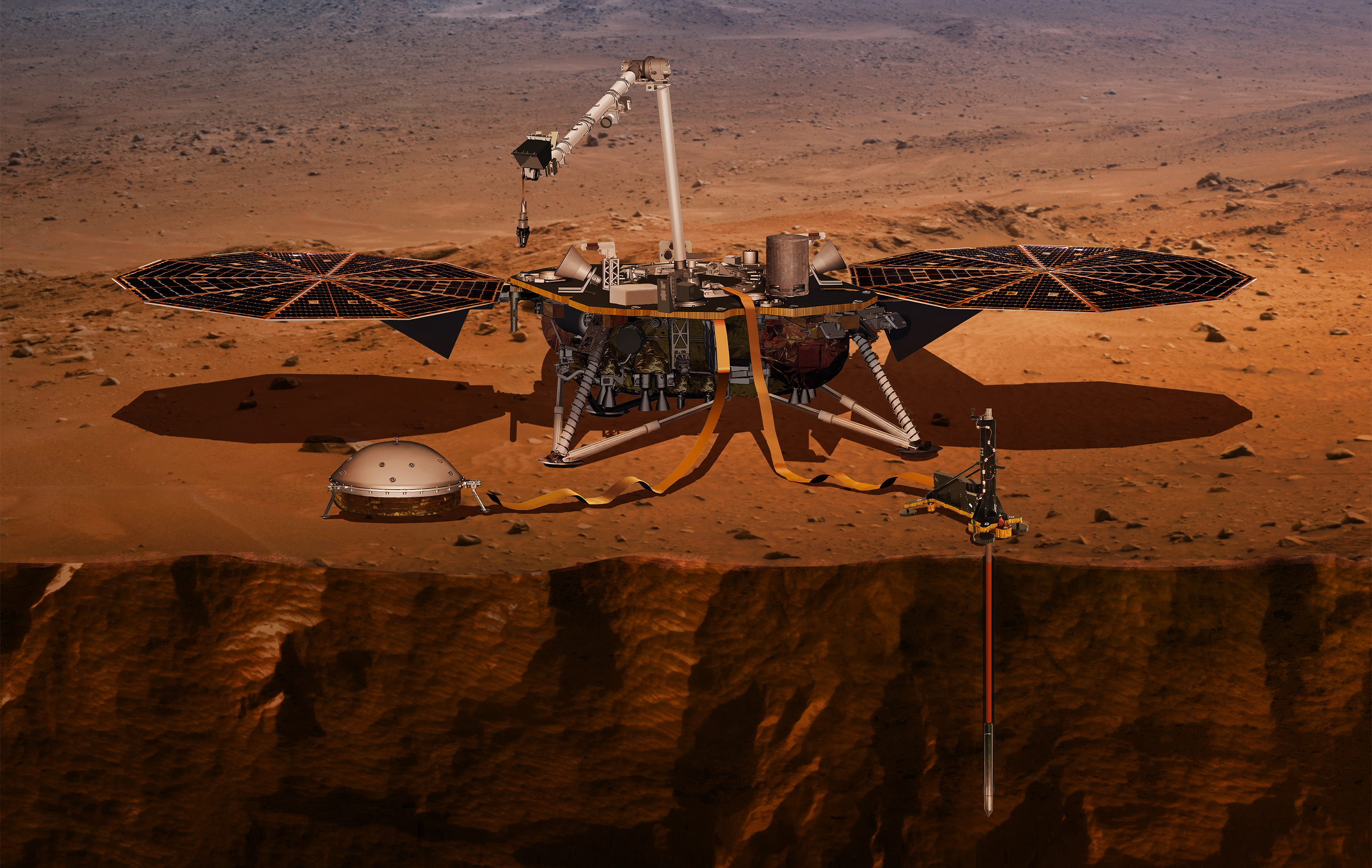 artists' rendering of Insight probe