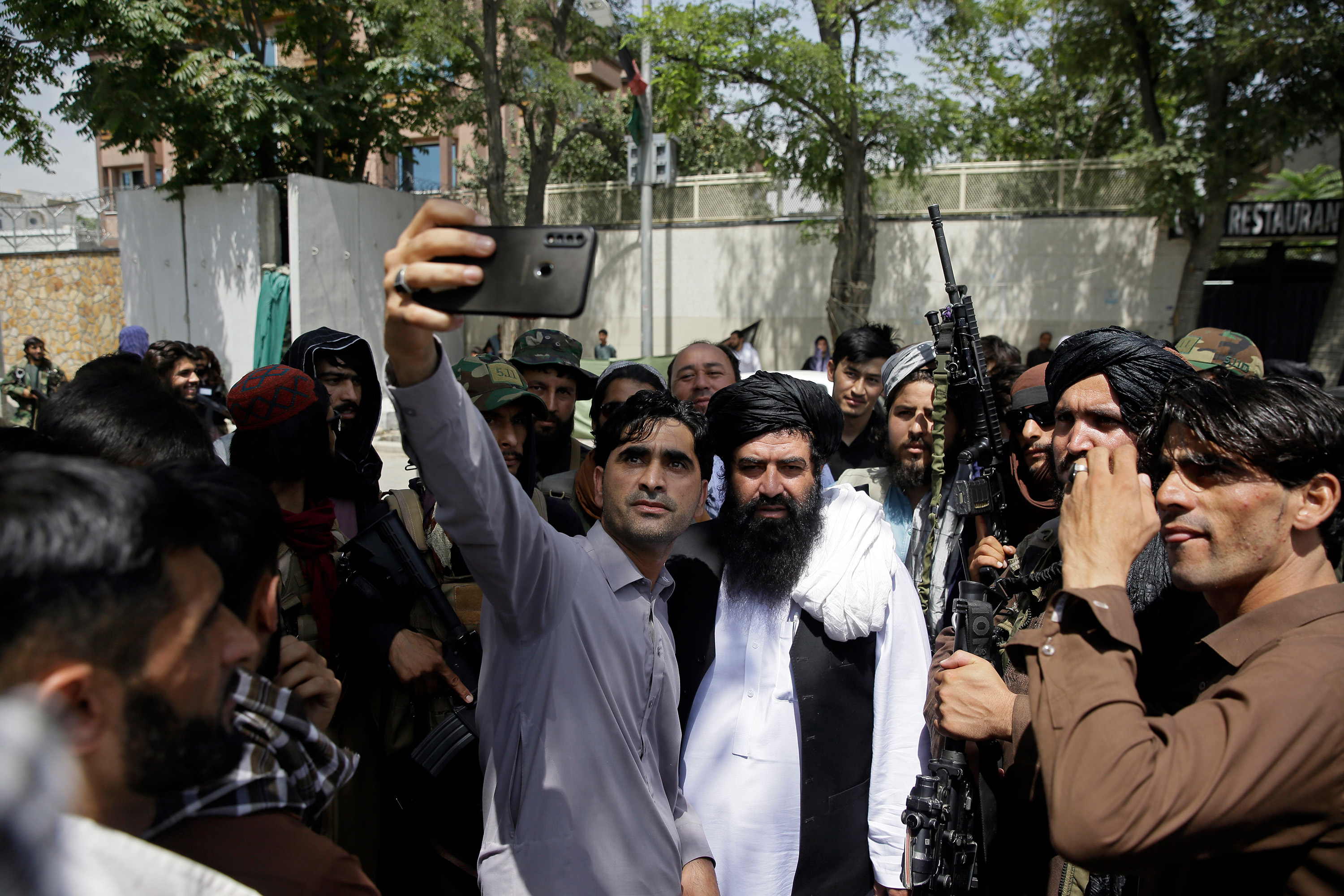 Afghan cell phone photo with Taliban fighters