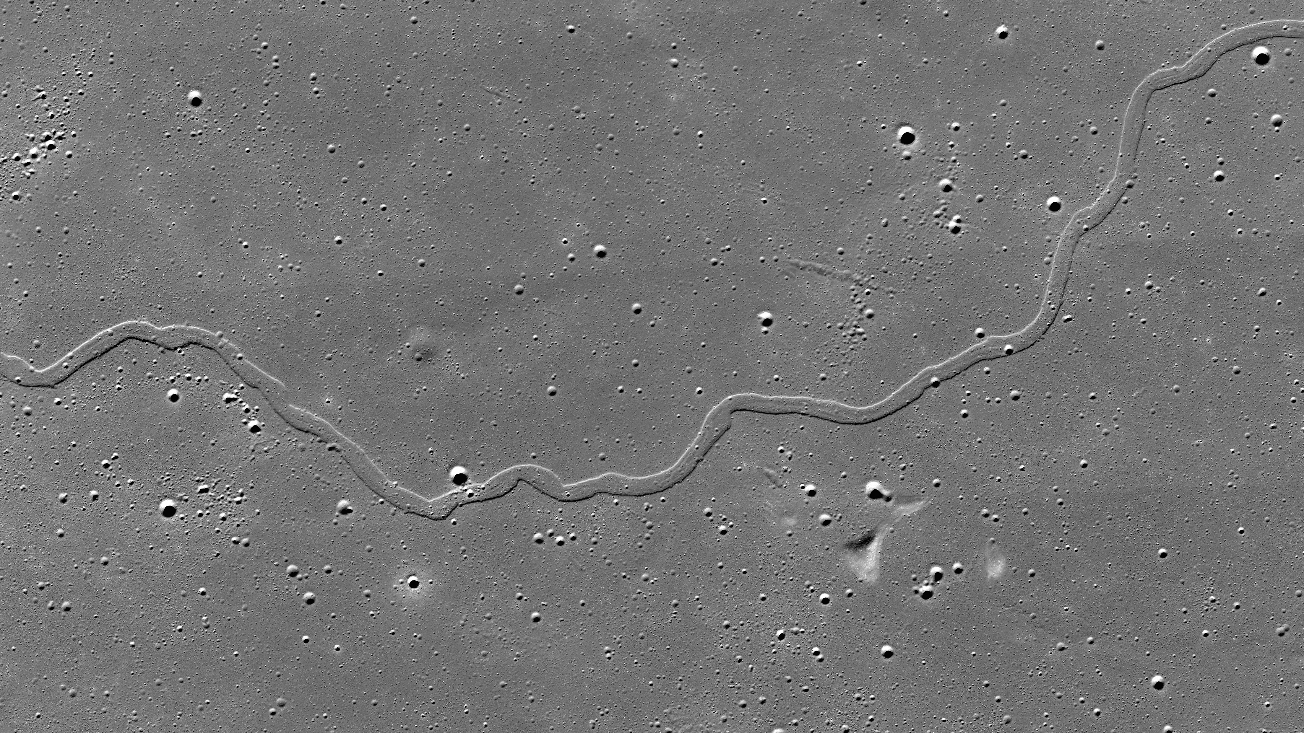 section of Rima Sharp captured by the LRO